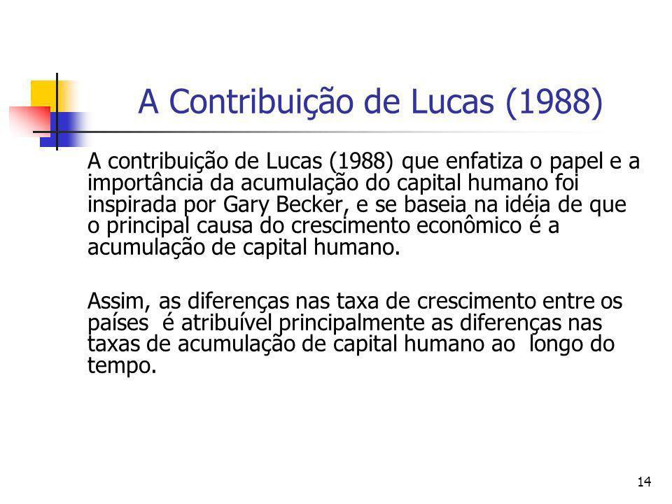 A Contribuição de Lucas (1988)