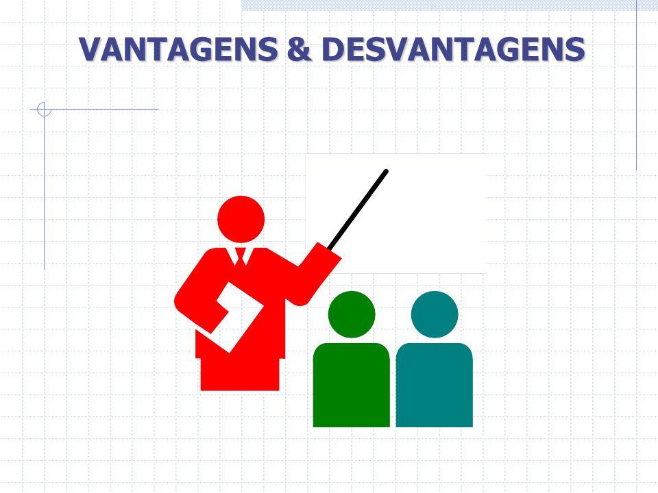 VANTAGENS & DESVANTAGENS
