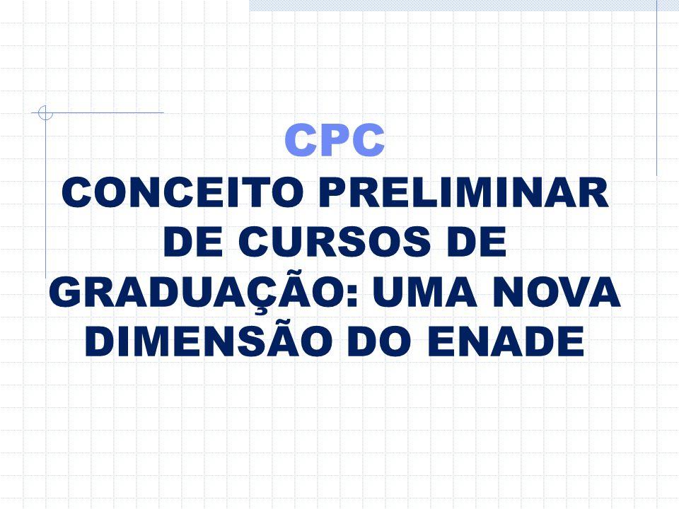 CPC CONCEITO PRELIMINAR DE CURSOS DE GRADUAÇÃO: UMA NOVA DIMENSÃO DO ENADE