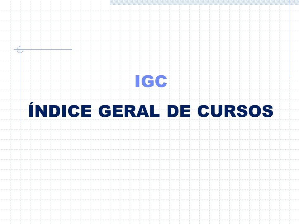 IGC ÍNDICE GERAL DE CURSOS