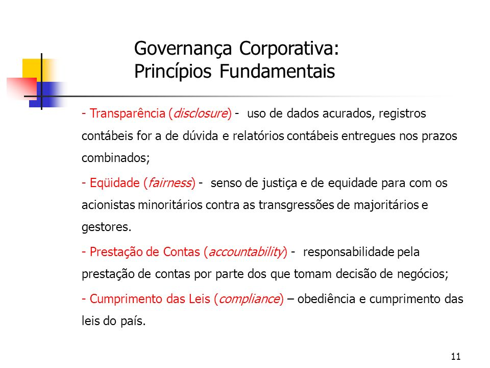 Governança Corporativa: Princípios Fundamentais