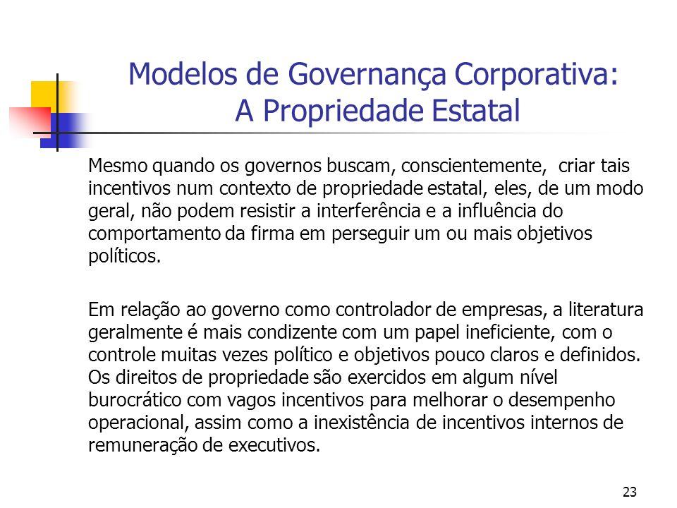Modelos de Governança Corporativa: A Propriedade Estatal