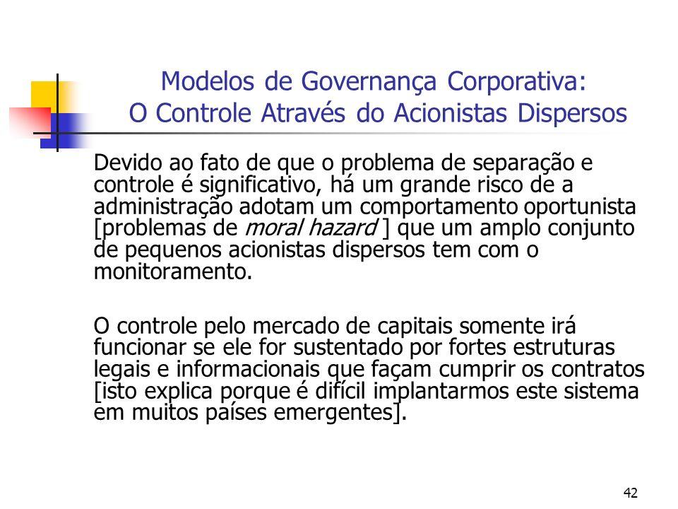 Modelos de Governança Corporativa: O Controle Através do Acionistas Dispersos