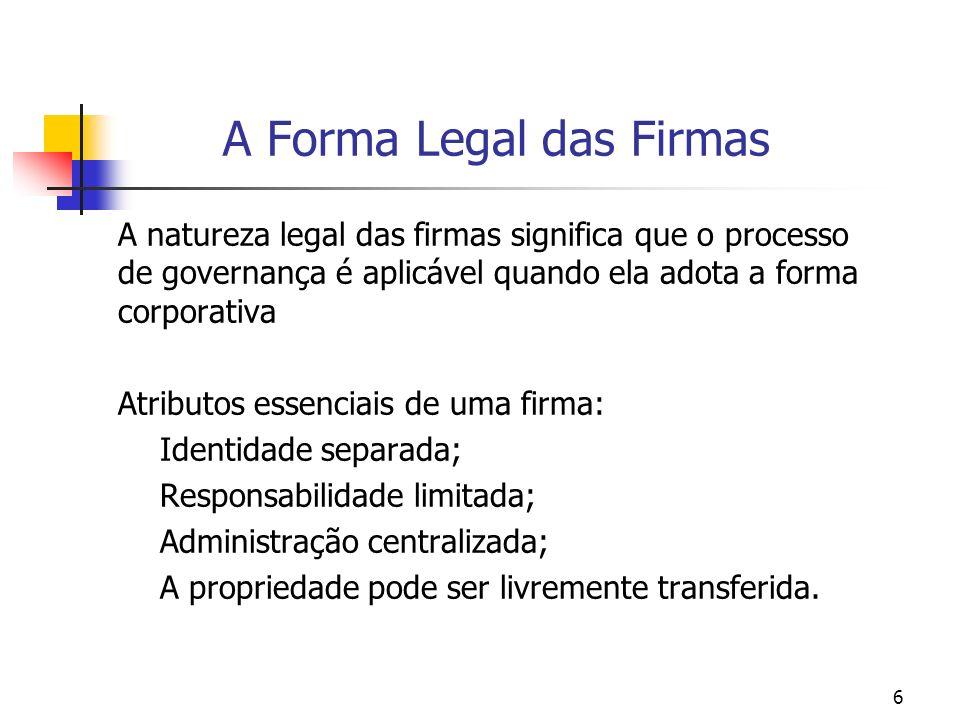 A Forma Legal das Firmas