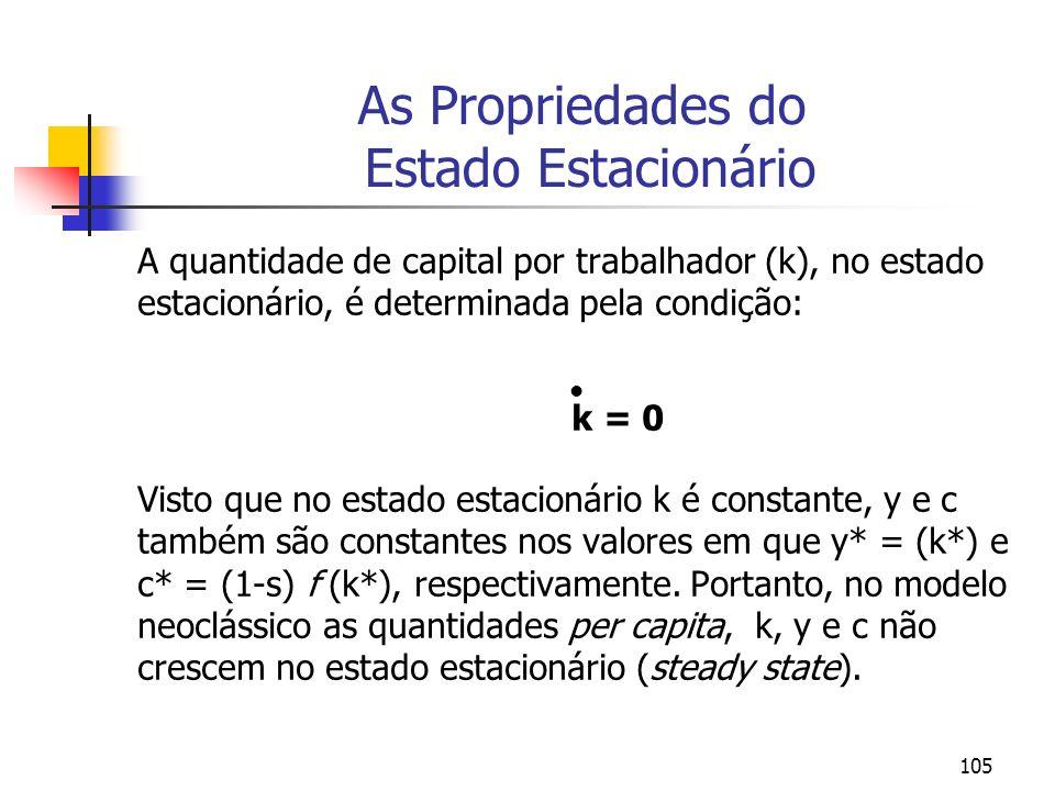 As Propriedades do Estado Estacionário