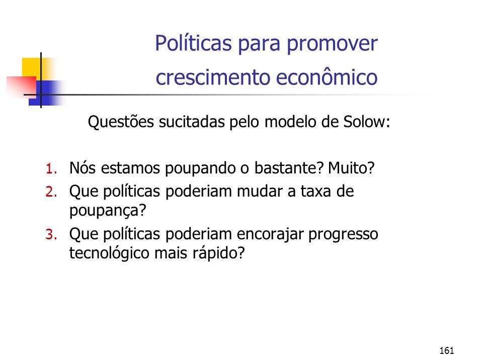 Políticas para promover crescimento econômico