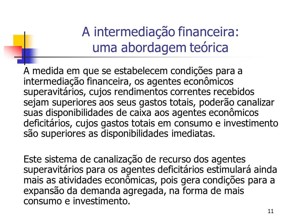 A intermediação financeira: uma abordagem teórica