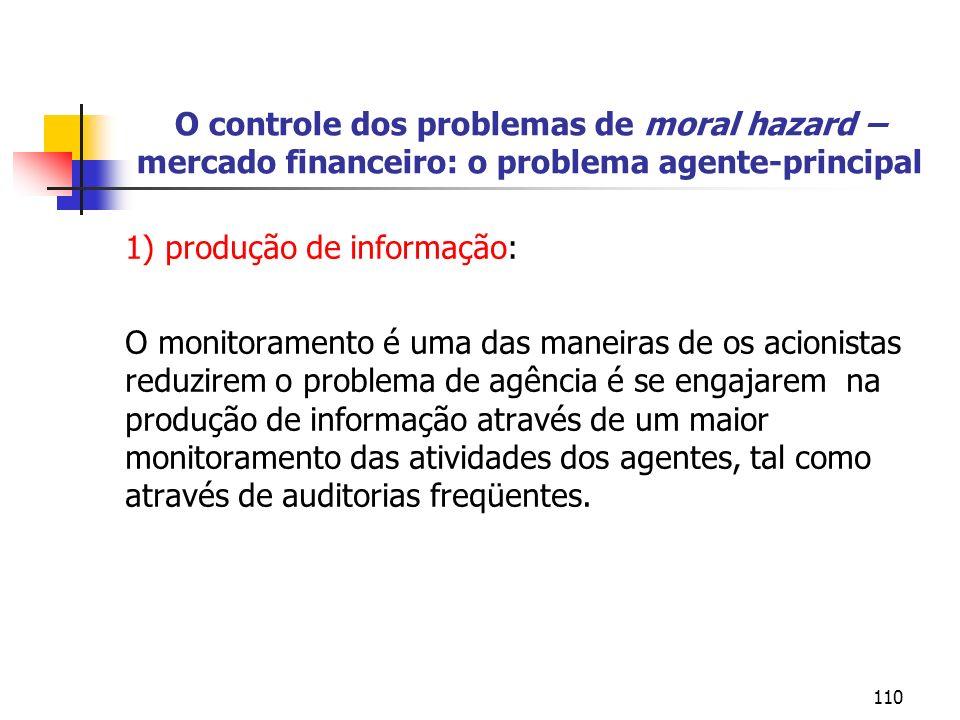 1) produção de informação: