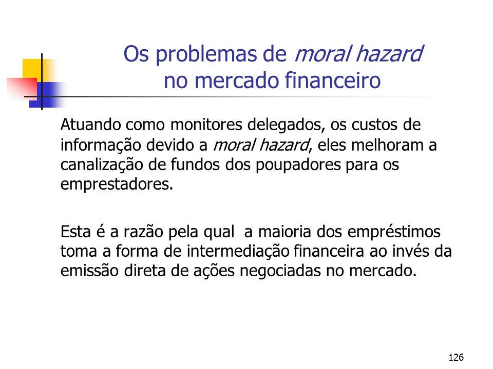 Os problemas de moral hazard no mercado financeiro