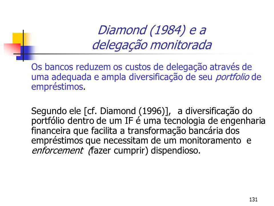 Diamond (1984) e a delegação monitorada