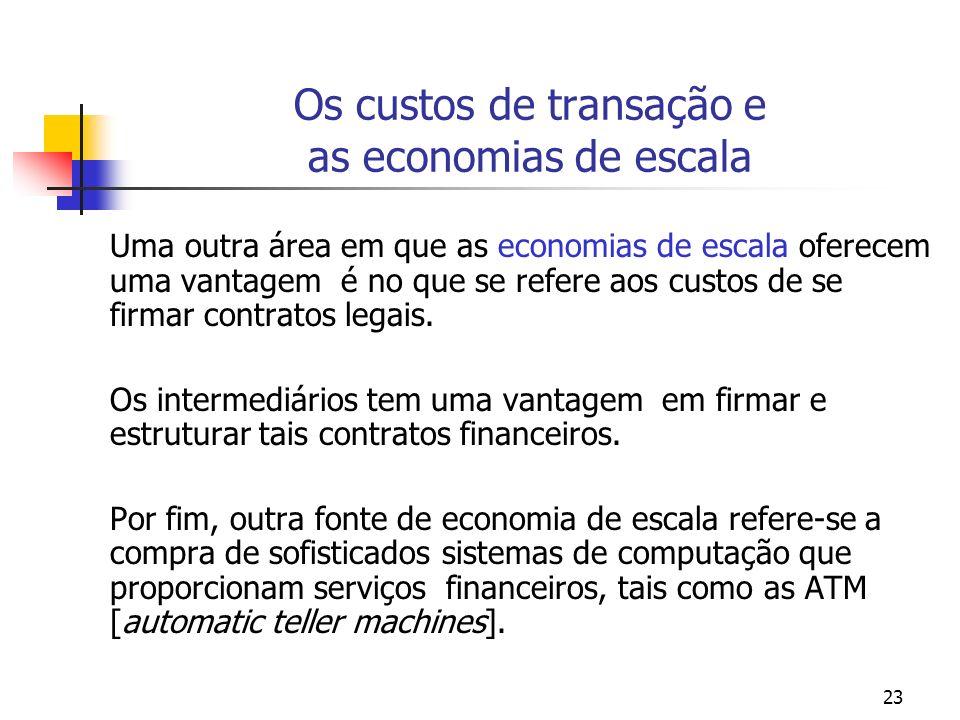 Os custos de transação e as economias de escala