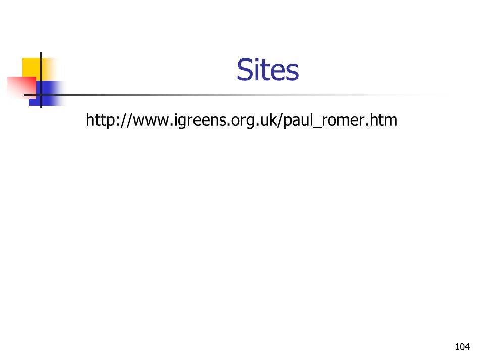 Sites http://www.igreens.org.uk/paul_romer.htm