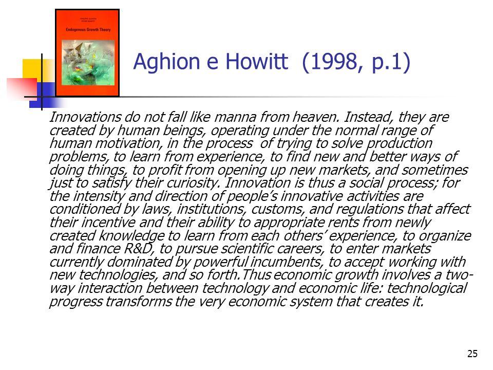 Aghion e Howitt (1998, p.1)