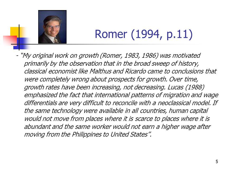 Romer (1994, p.11)