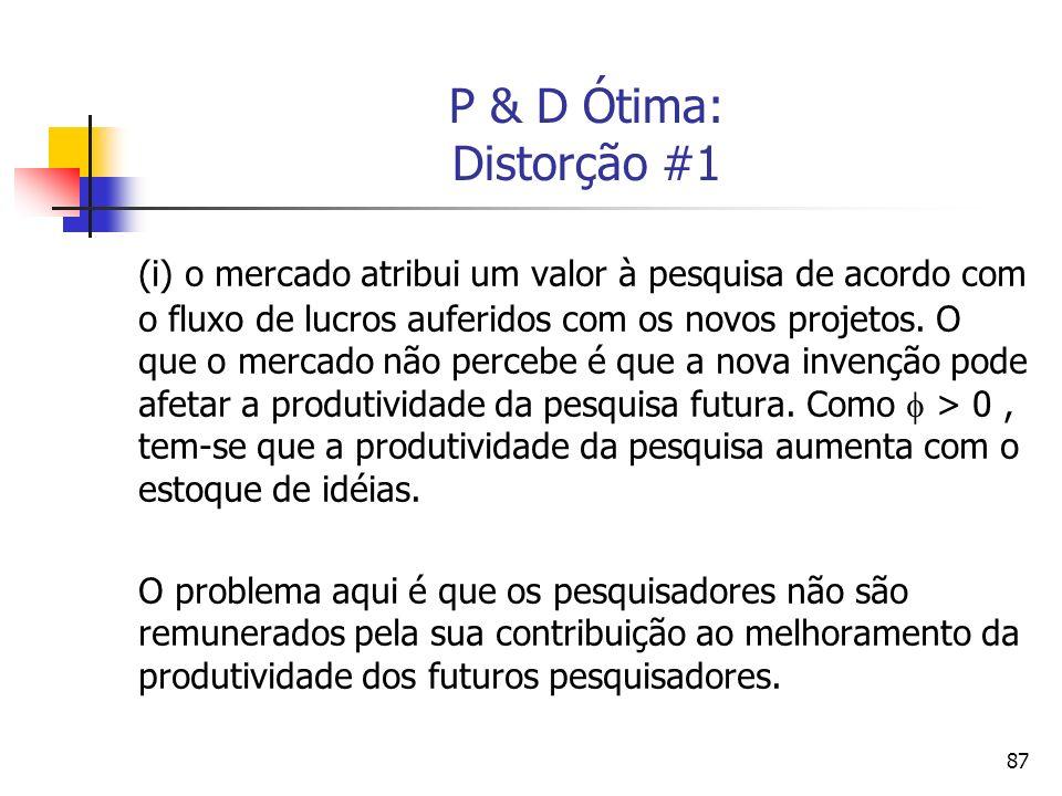 P & D Ótima: Distorção #1