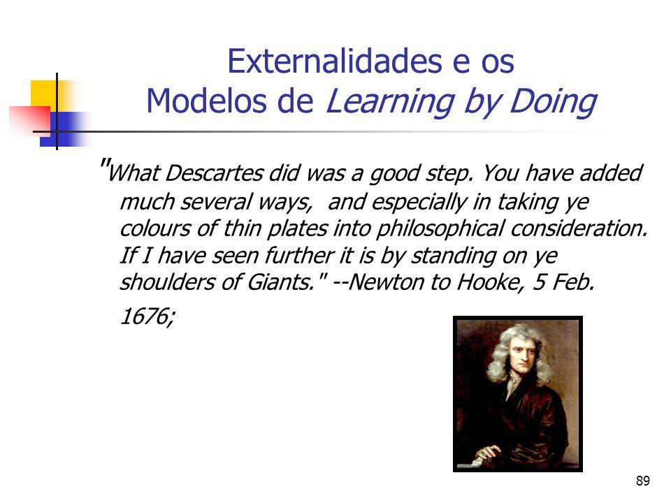 Externalidades e os Modelos de Learning by Doing