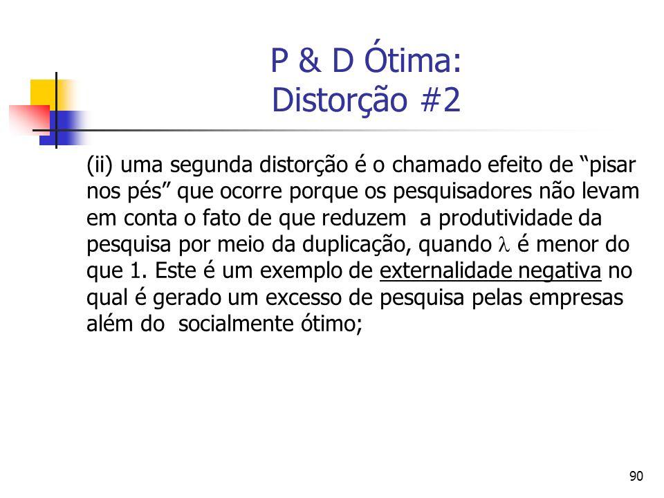 P & D Ótima: Distorção #2