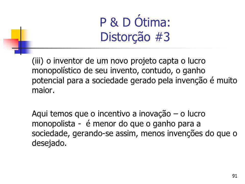 P & D Ótima: Distorção #3
