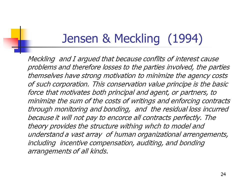Jensen & Meckling (1994)