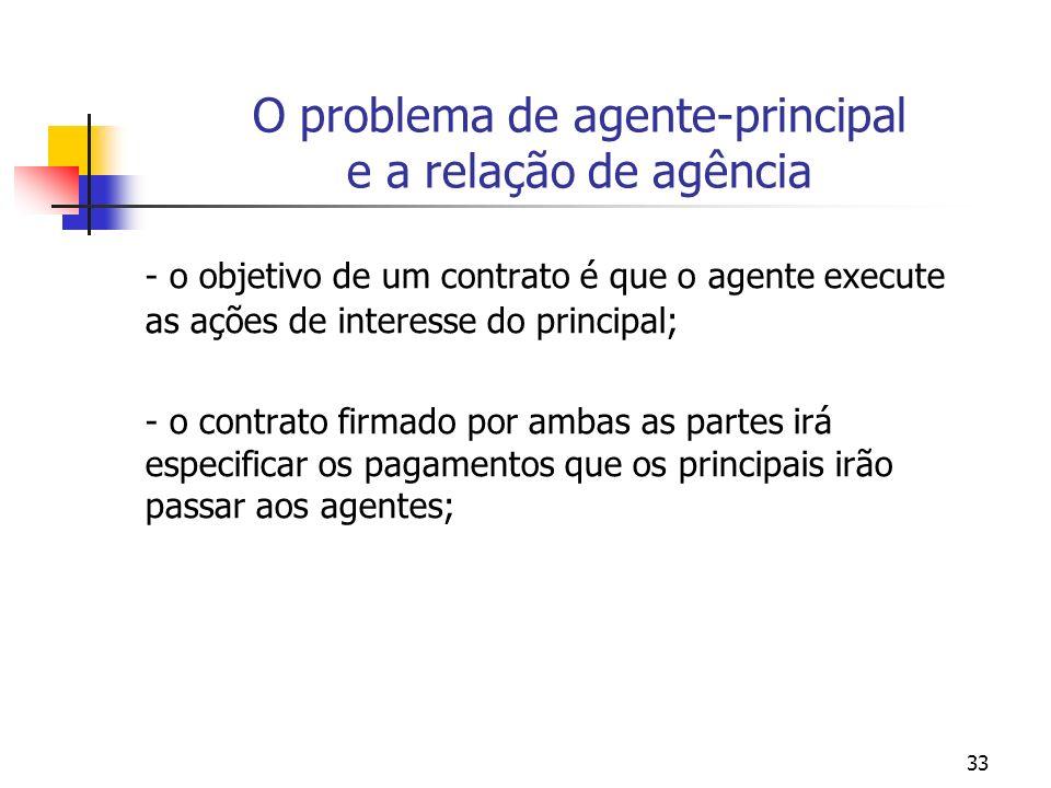 O problema de agente-principal e a relação de agência