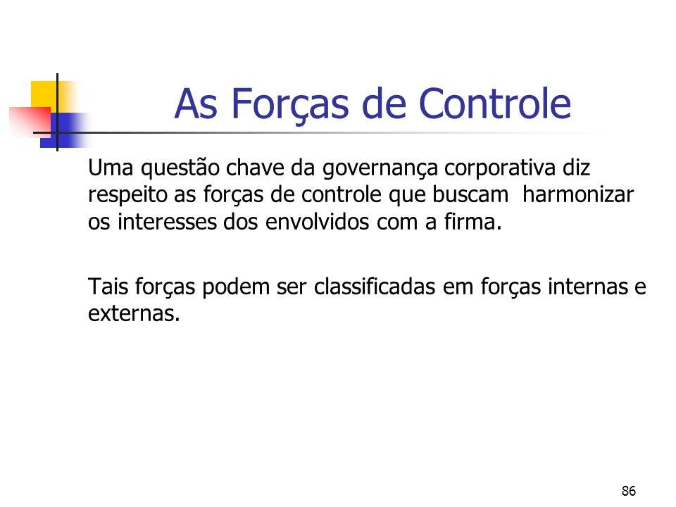 As Forças de Controle
