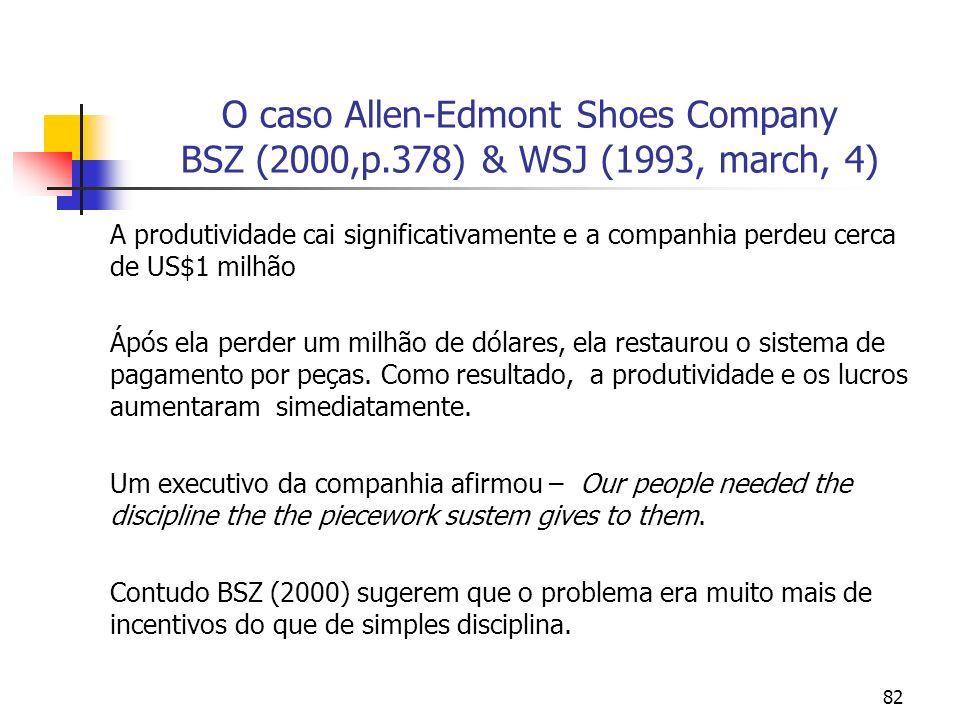 O caso Allen-Edmont Shoes Company BSZ (2000,p