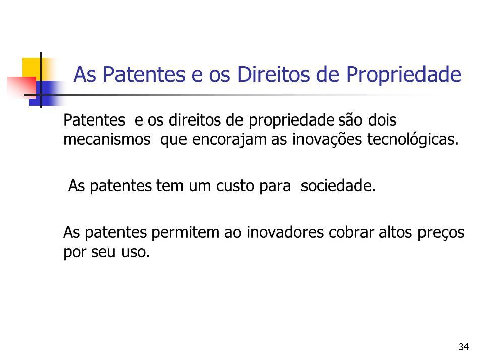 As Patentes e os Direitos de Propriedade