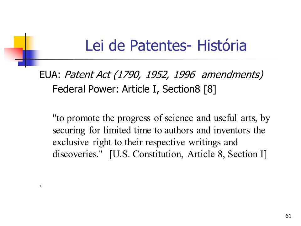 Lei de Patentes- História