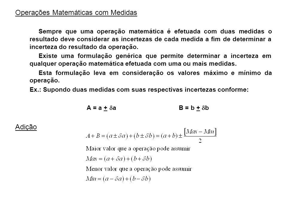 Operações Matemáticas com Medidas