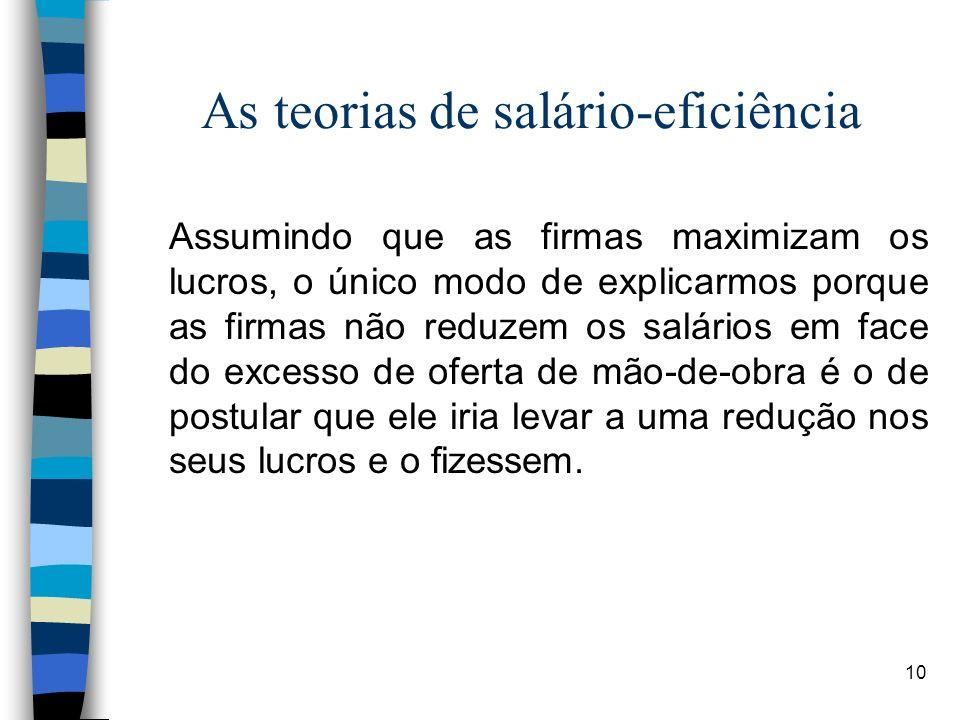 As teorias de salário-eficiência
