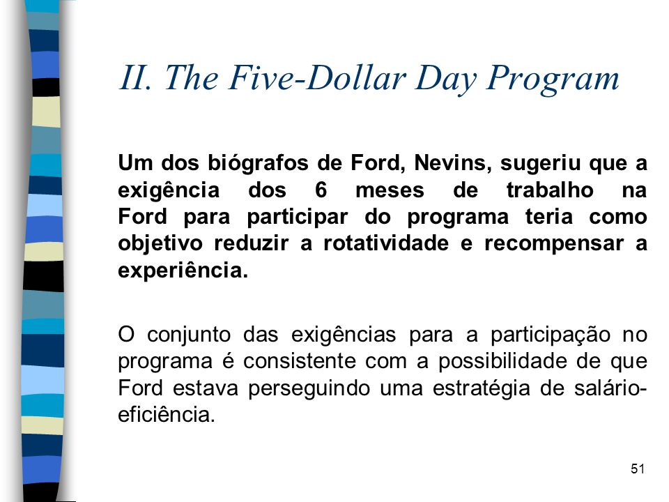 II. The Five-Dollar Day Program