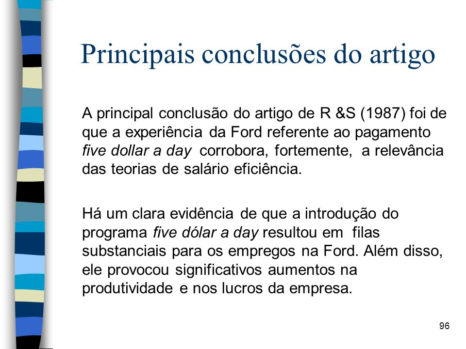 Principais conclusões do artigo