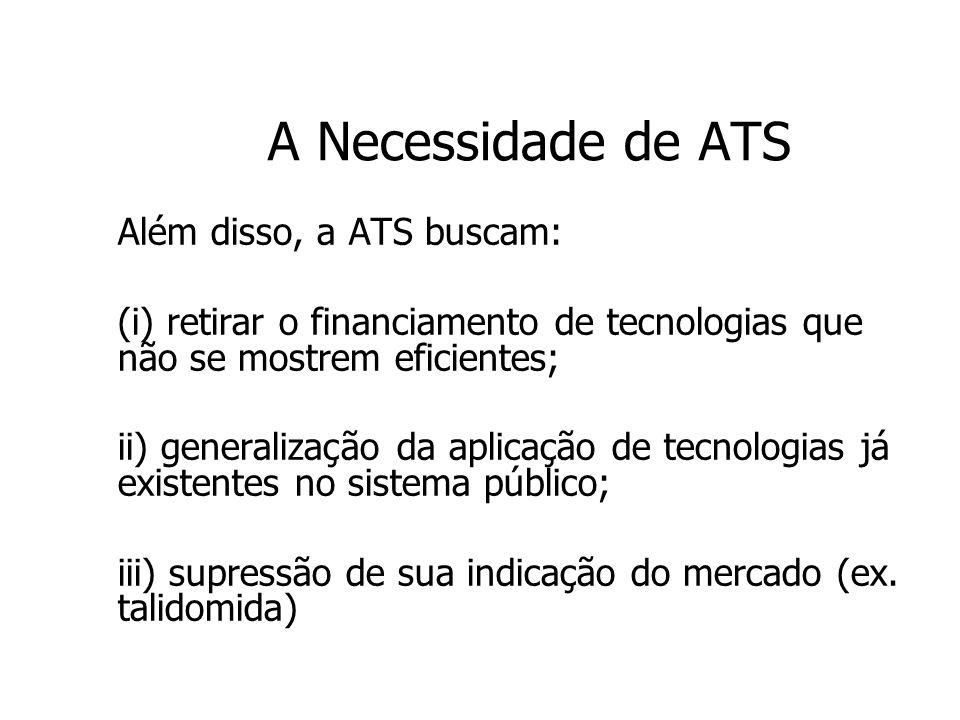 A Necessidade de ATS Além disso, a ATS buscam: