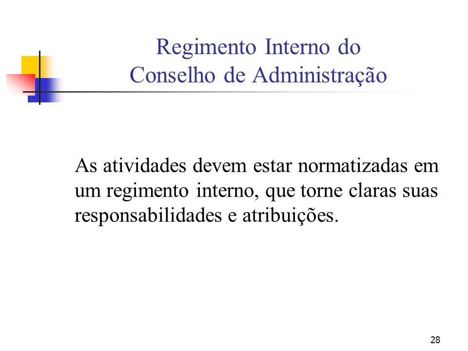 Regimento Interno do Conselho de Administração