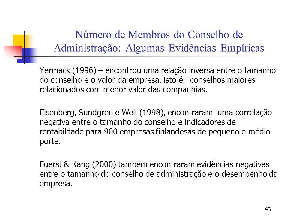 Número de Membros do Conselho de Administração: Algumas Evidências Empíricas