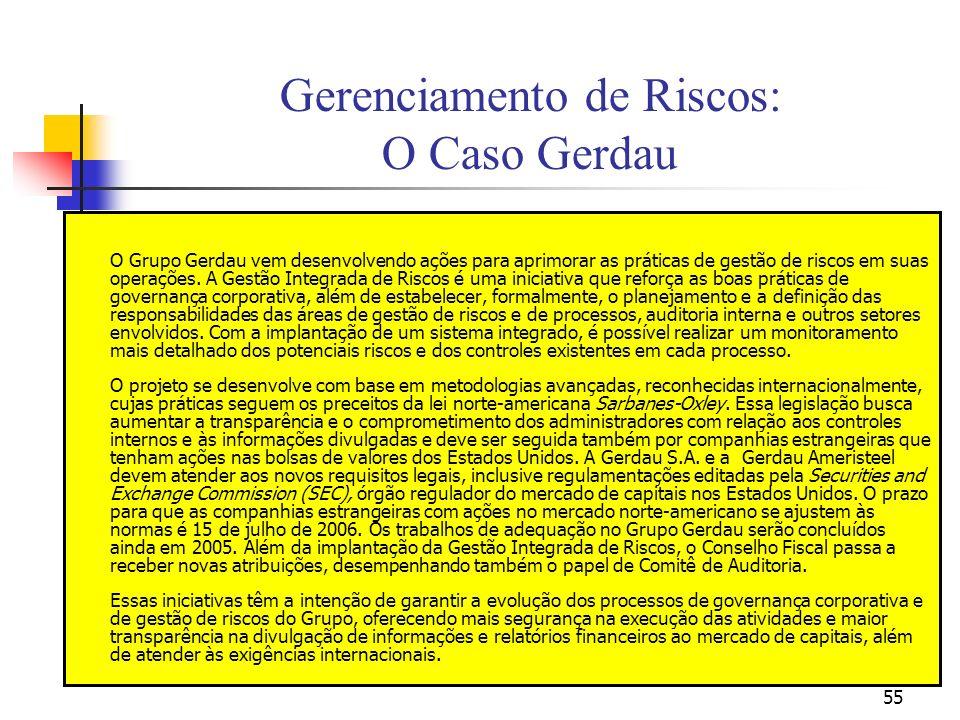 Gerenciamento de Riscos: O Caso Gerdau