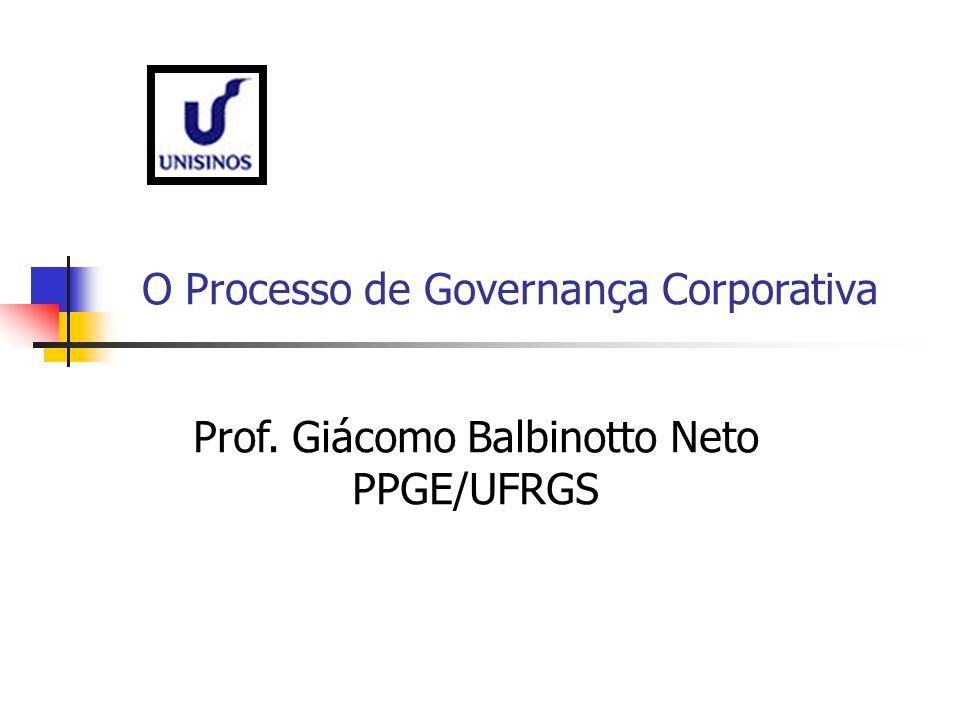 O Processo de Governança Corporativa