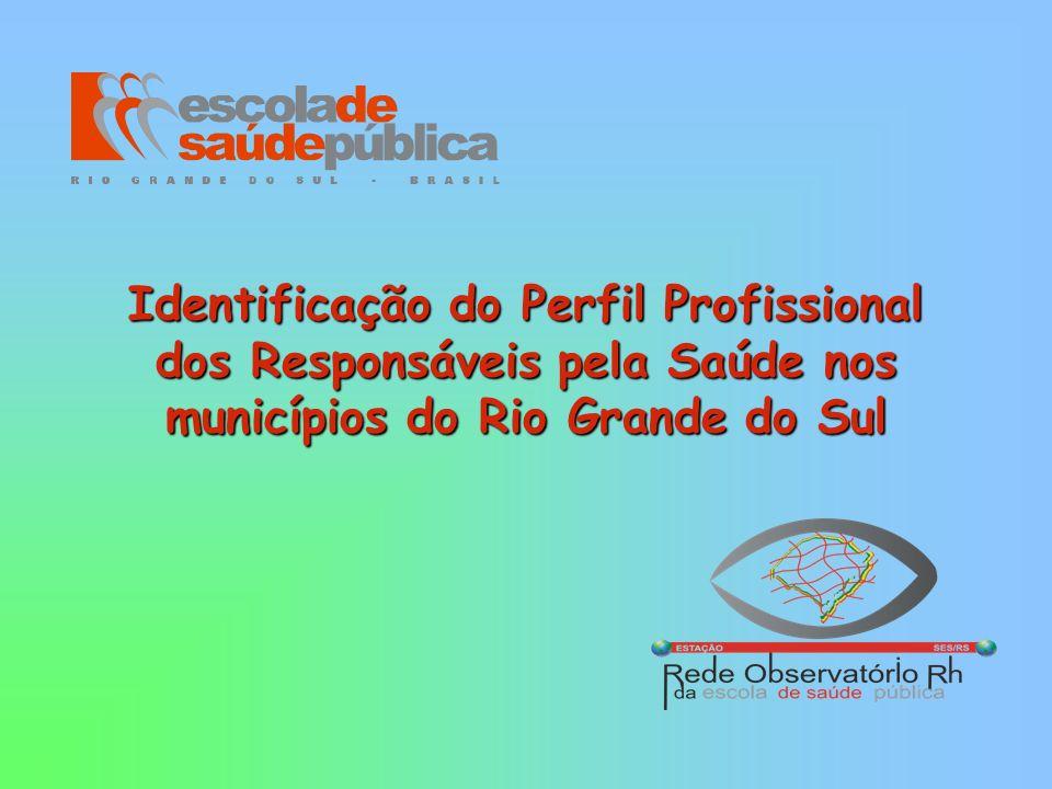 Identificação do Perfil Profissional dos Responsáveis pela Saúde nos municípios do Rio Grande do Sul
