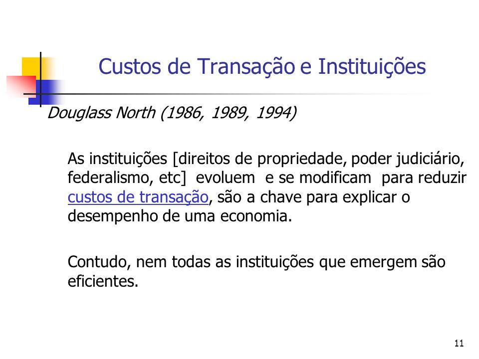 Custos de Transação e Instituições