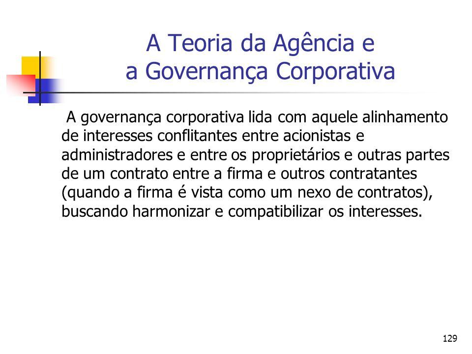 A Teoria da Agência e a Governança Corporativa