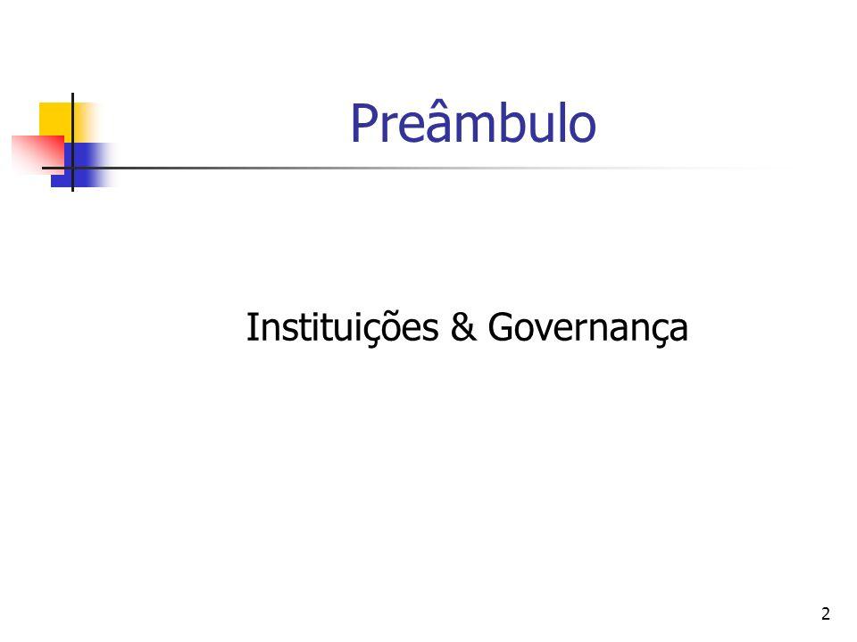 Instituições & Governança