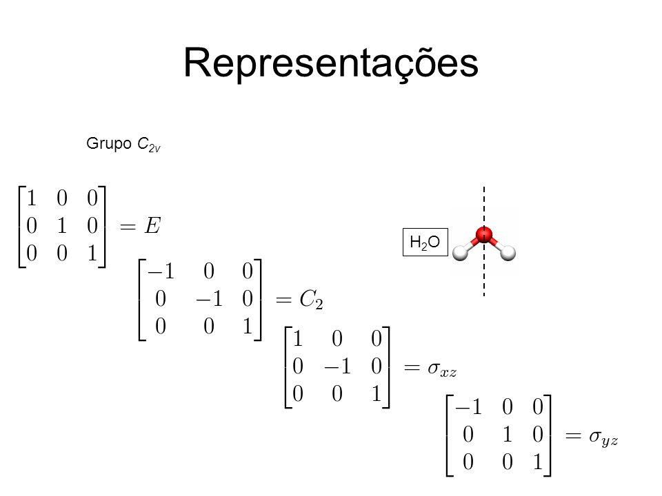 Representações Grupo C2v H2O