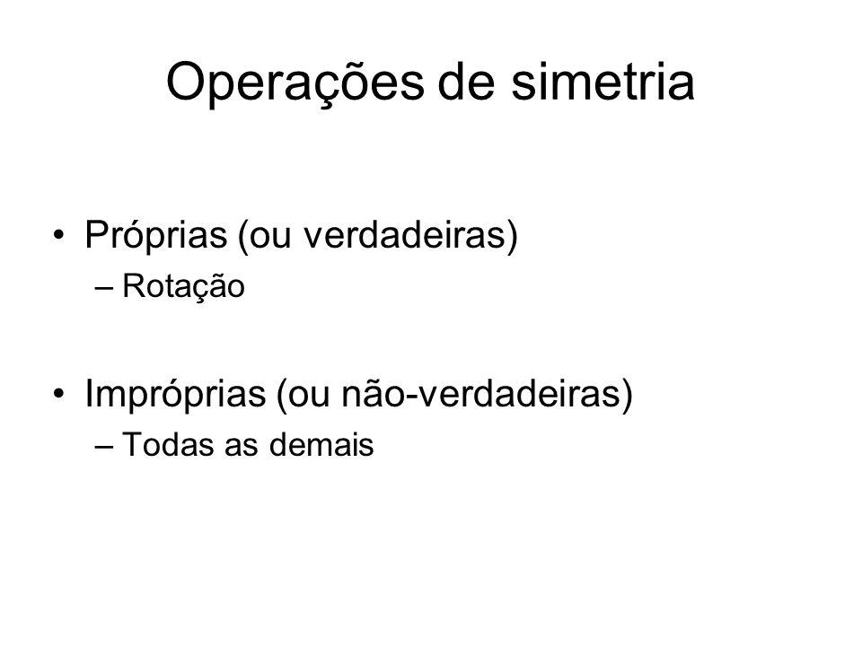 Operações de simetria Próprias (ou verdadeiras)