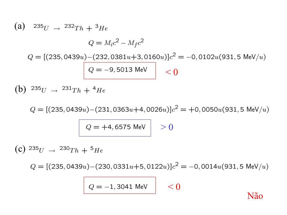 (a) < 0 (b) > 0 (c) < 0 Não
