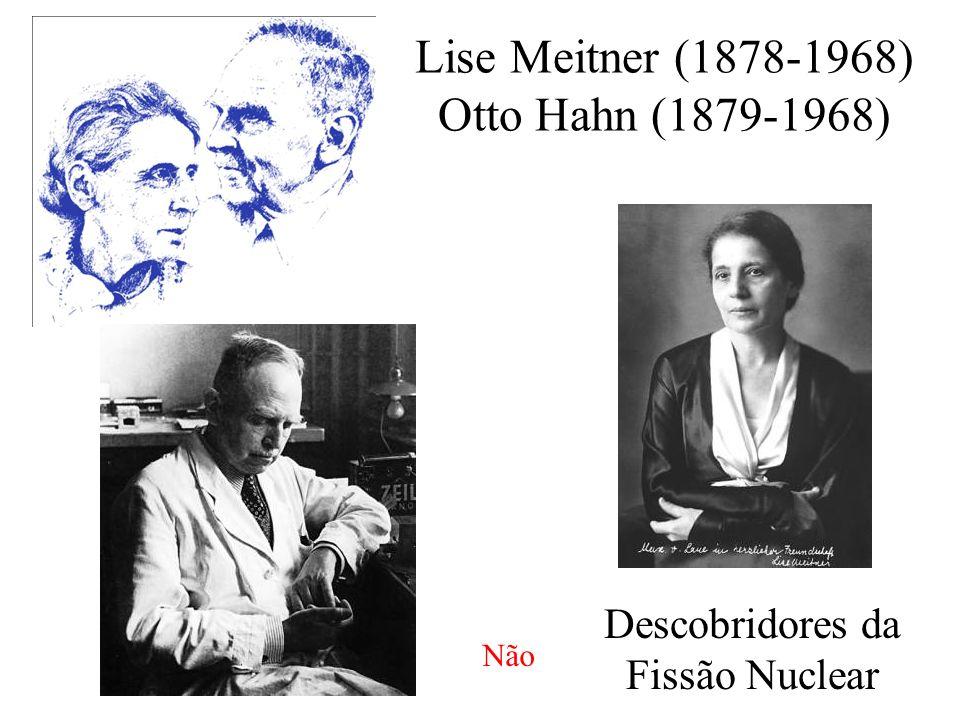 Lise Meitner (1878-1968) Otto Hahn (1879-1968)