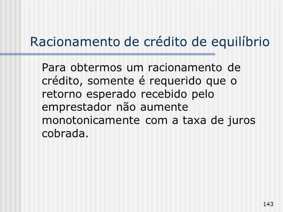 Racionamento de crédito de equilíbrio