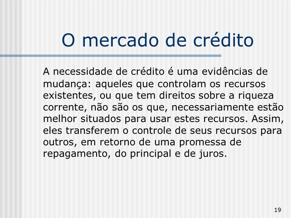 O mercado de crédito