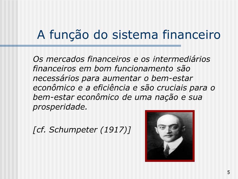 A função do sistema financeiro