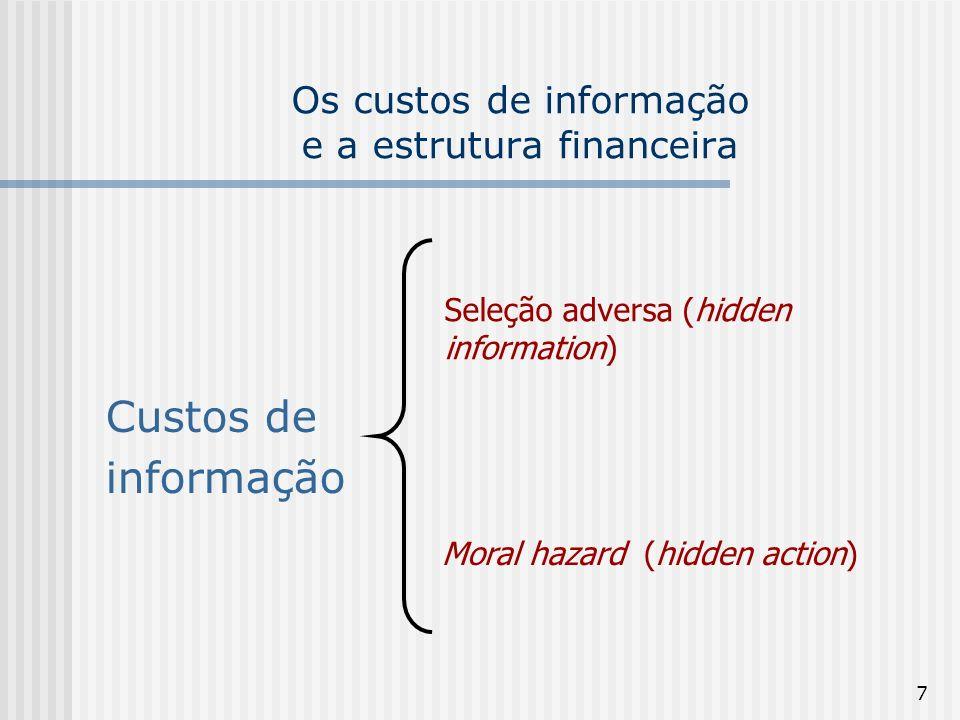 Os custos de informação e a estrutura financeira