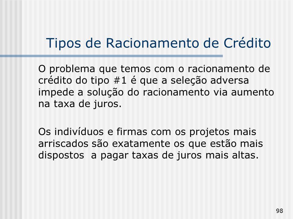 Tipos de Racionamento de Crédito